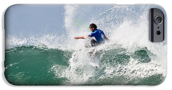 Surfing Magazine iPhone Cases - Quiksilver Pro France V iPhone Case by Thierry Bouriat