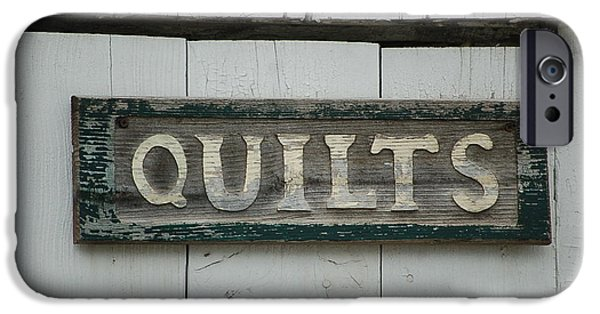 Quilts For Sale iPhone Cases - Quilts For Sale iPhone Case by Cindy Elliott