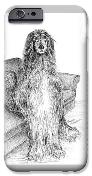 Dogs iPhone Cases - Quincy iPhone Case by Frances Schuleit