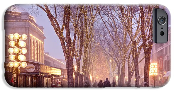 Winter Weather iPhone Cases - Quincy Market Stroll iPhone Case by Susan Cole Kelly