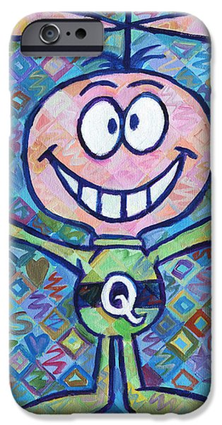 Quaker Paintings iPhone Cases - Quisp 2 iPhone Case by Randal Huiskens