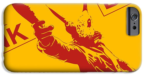 Stencil iPhone Cases - Rabbit heist iPhone Case by Pixel  Chimp