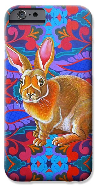 Fauna iPhone Cases - Rabbit iPhone Case by Jane Tattersfield