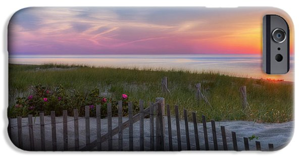 Ocean Sunset iPhone Cases - Race Point Sunset 2015 iPhone Case by Bill Wakeley
