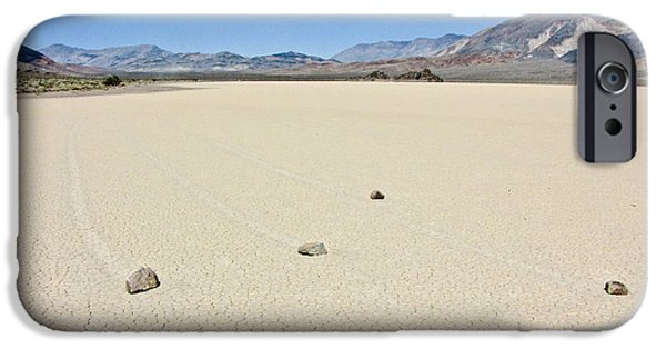 Sailing iPhone Cases - Racetrack Playa Death Valley 1 iPhone Case by Backcountry Explorers