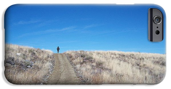 Prescott Arizona iPhone Cases - Racing Over the Horizon iPhone Case by Heather Kirk