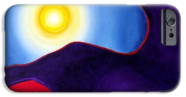 Inner World Paintings iPhone Cases - Radiance iPhone Case by Wayne Devon