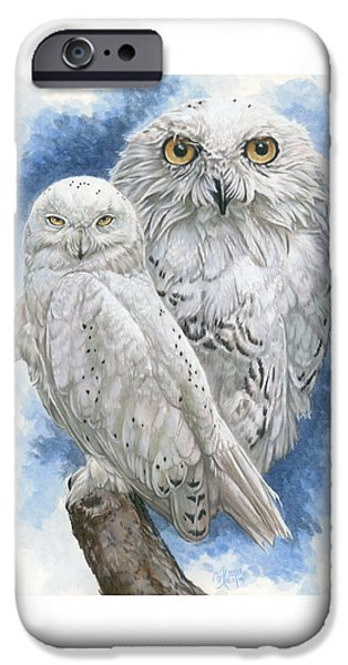 Snowy Drawings iPhone Cases - Radiant iPhone Case by Barbara Keith