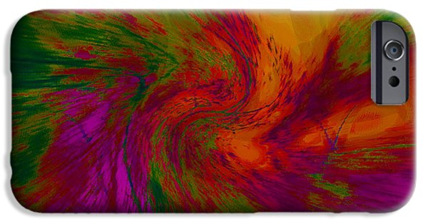 Abstract Digital iPhone Cases - Radical Energy iPhone Case by Kathy Franklin
