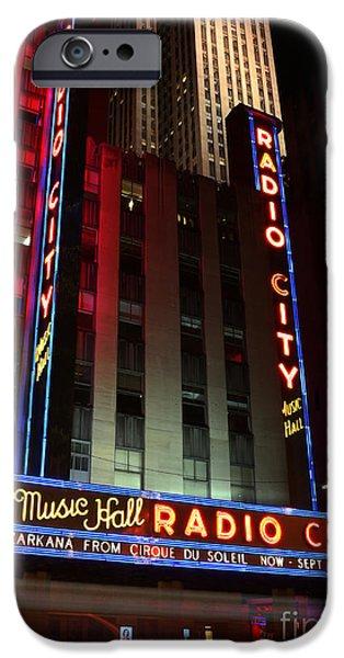 Lee Dos Santos iPhone Cases - Radio City Music Hall Cirque du Soleil Zarkana iPhone Case by Lee Dos Santos