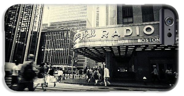 Filmnoir iPhone Cases - Radio City Music Hall Manhattan New York City iPhone Case by Sabine Jacobs