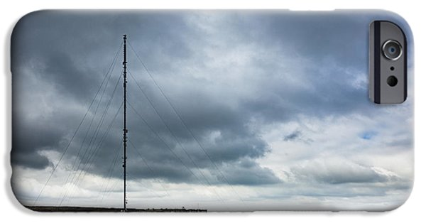 Antennae iPhone Cases - Radio Tower in Field iPhone Case by Jon Boyes
