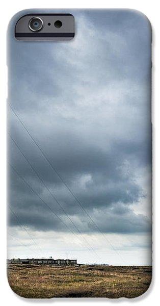 Radio Tower in Field iPhone Case by Jon Boyes
