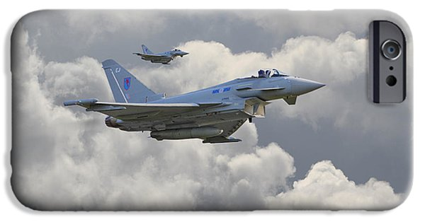 Raf iPhone Cases - RAF Typhoons iPhone Case by Pat Speirs