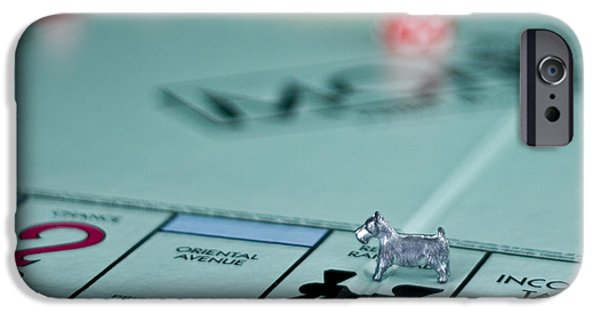 Board iPhone Cases - Rail Road Dog iPhone Case by Jana Rosenkranz