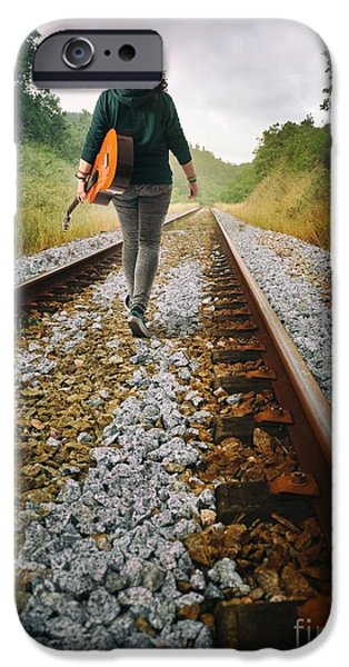 Destiny Photographs iPhone Cases - Railway Drifter iPhone Case by Carlos Caetano
