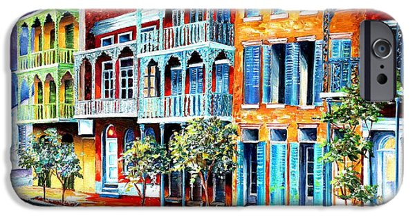 Rainy Day iPhone Cases - Rain in Old New Orleans iPhone Case by Diane Millsap