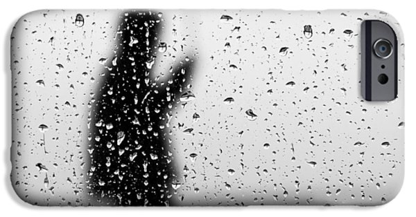 Raining Pyrography iPhone Cases - Rain man iPhone Case by Willem Lombard