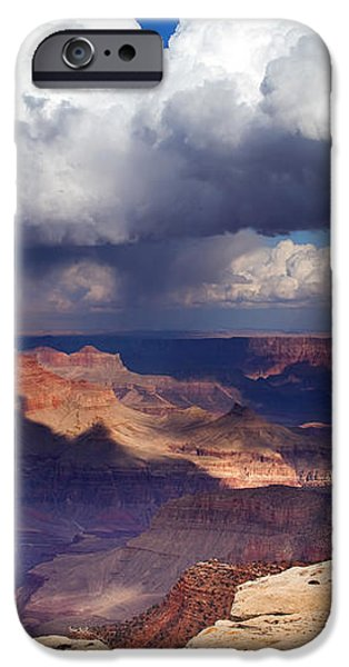Rain over the Grand Canyon iPhone Case by Mike  Dawson