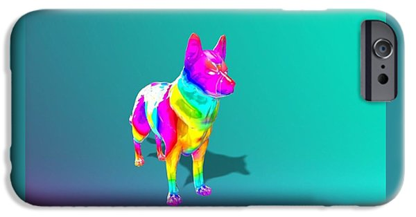 Model iPhone Cases - Rainbow dawg iPhone Case by Lilly Taylor