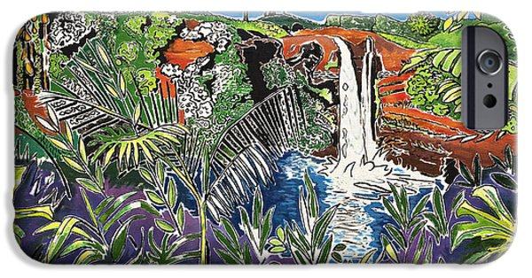 Art Medium iPhone Cases - Rainbow Falls iPhone Case by Fay Biegun - Printscapes
