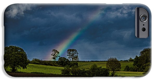 Recently Sold -  - Storm iPhone Cases - Rainbow Fields iPhone Case by Martin Newman