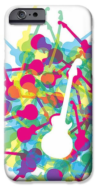 Electrical iPhone Cases - Rainbow guitars iPhone Case by Julia Jasiczak