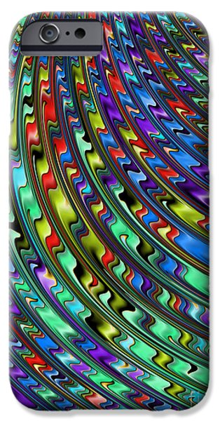 Fractal iPhone Cases - Rainbow in Abstract 01 iPhone Case by John Edwards