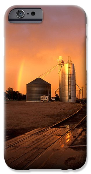 Nebraska iPhone Cases - Rainbow in Potter iPhone Case by Jerry McElroy