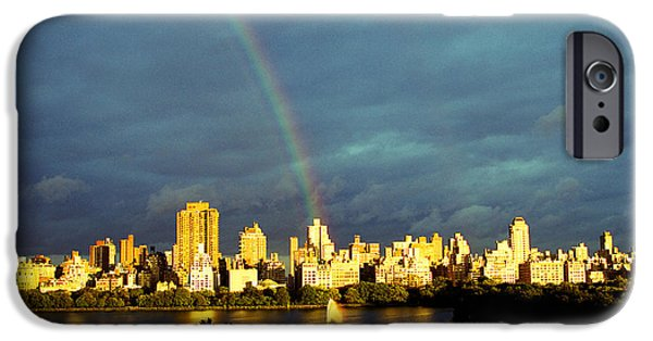 Recently Sold -  - Rainy Day iPhone Cases - Rainbow in the City iPhone Case by Ariane Moshayedi