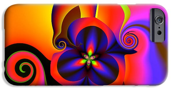 """digital Abstract"" iPhone Cases - Rainbow infusion iPhone Case by Claude McCoy"
