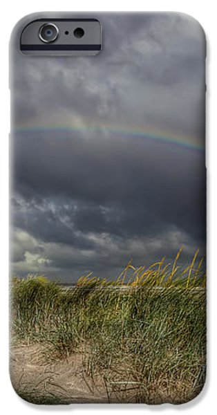 Rainbow Lighthouse iPhone Case by Adrian Evans