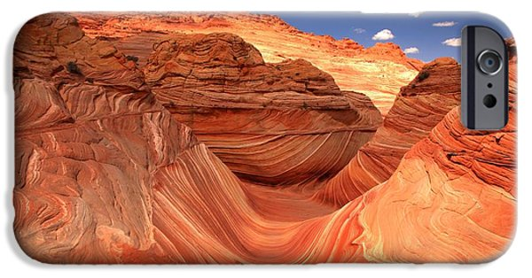 The Plateaus iPhone Cases - Rainbow Of Colors At The Wave iPhone Case by Adam Jewell