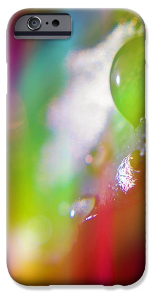 Raining iPhone Cases - Rainbow Rain 2 iPhone Case by Alex Art