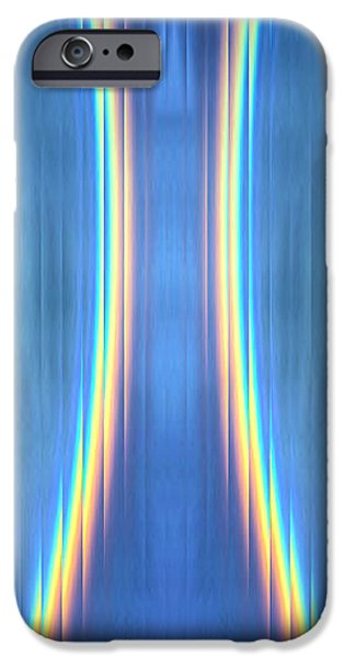 Business Digital Art iPhone Cases - Rainbow Ripple iPhone Case by Heather Joyce Morrill