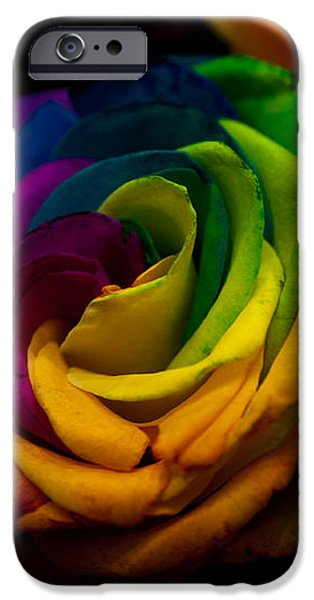 Miracle iPhone Cases - Rainbow RoseS iPhone Case by Jenny Rainbow