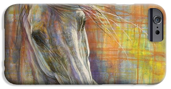 White Horses iPhone Cases - Rainbow  iPhone Case by Silvana Gabudean
