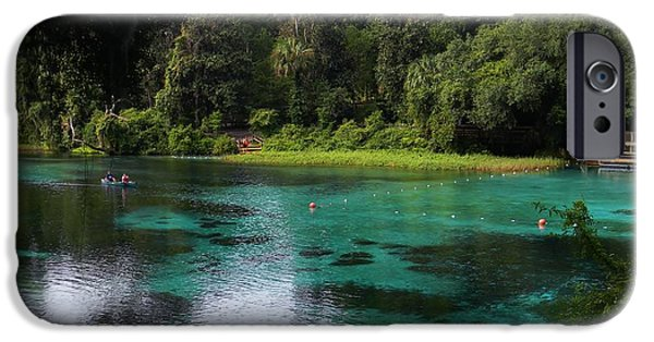 Canoe iPhone Cases - Rainbow Springs Overlook iPhone Case by Warren Thompson