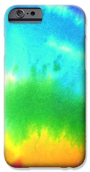 Free Form Paintings iPhone Cases - Rainbow wash iPhone Case by Chandelle Hazen
