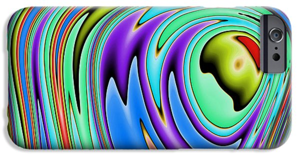 Fractal iPhone Cases - Rainbow in Abstract 02 iPhone Case by John Edwards