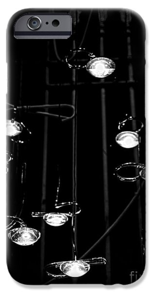 Abstractions iPhone Cases - Raindrops Keep Falling on my Head iPhone Case by James Aiken