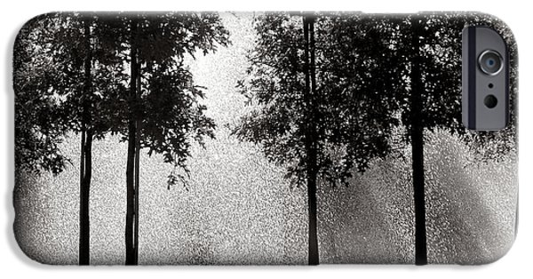 Raining iPhone Cases - Rainshower iPhone Case by Olivier Le Queinec