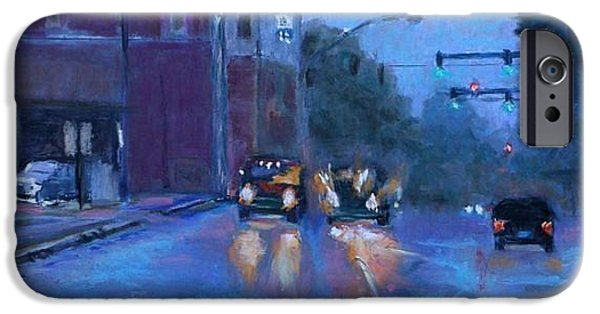 Rainy Day Pastels iPhone Cases - Rainy Day Fort Smith iPhone Case by Julie Mayser