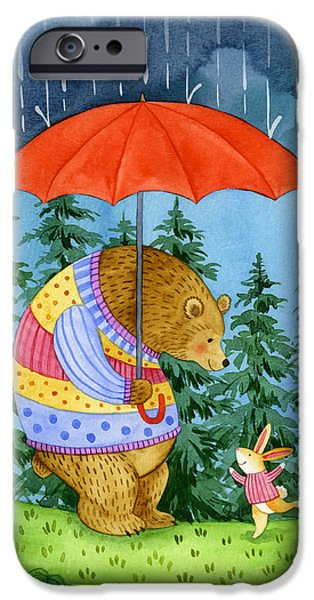 Raining iPhone Cases - Rainy Day Friend iPhone Case by Jane Maday