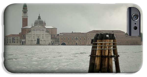 Rainy Day iPhone Cases - Rainy day in May in Venice iPhone Case by Giuseppe Mauro Panzani