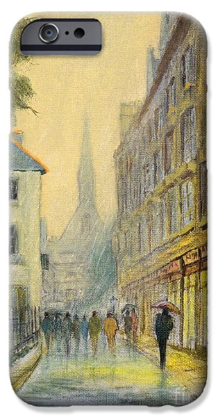 Recently Sold -  - Buildings iPhone Cases - Rainy Day In Oxford iPhone Case by Bill Holkham
