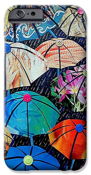 Rainy Day iPhone Cases - Rainy Day Personalities iPhone Case by Susan DeLain