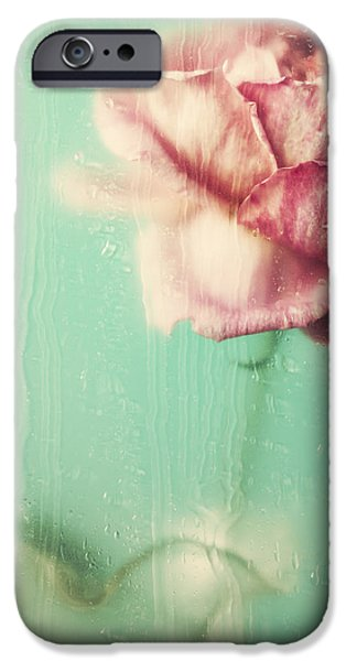 Pastel iPhone Cases - Rainy Day Romance iPhone Case by Amy Weiss