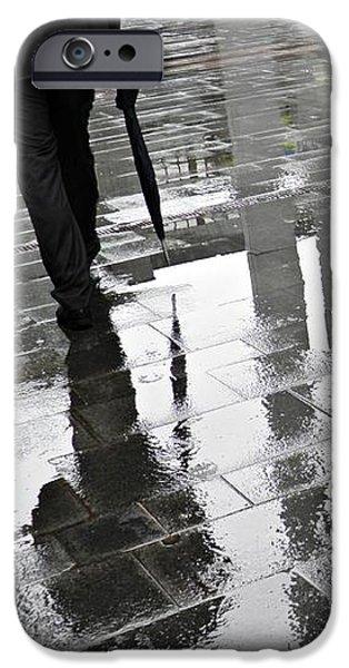 Raining iPhone Cases - Rainy Morning in Mainz iPhone Case by Sarah Loft
