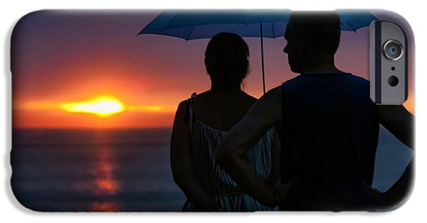 Rainy Day iPhone Cases - Rainy Sunset iPhone Case by Nadia Sanowar